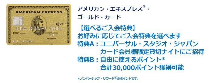 アメックス・ゴールドの入会キャンペーン