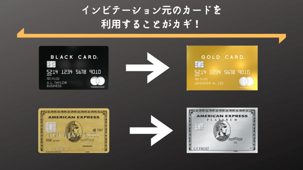 インビテーション元のカードを 利用することがカギ!
